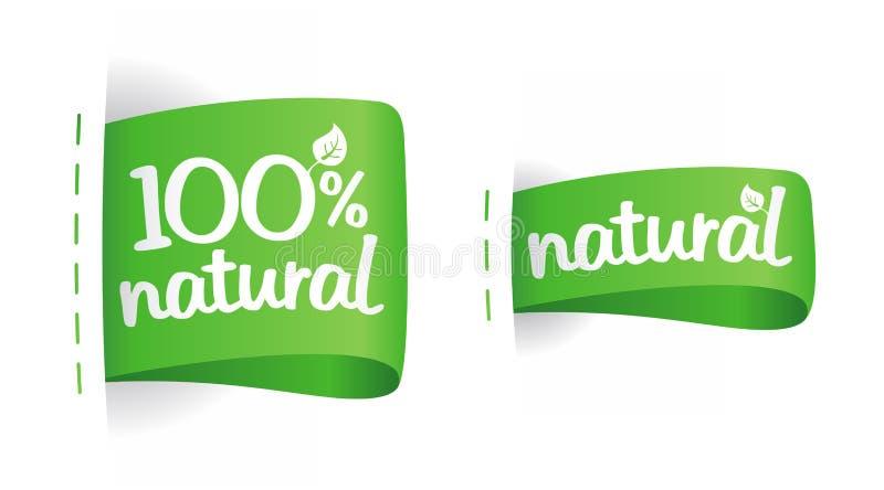 Etiketten voor natuurlijke productie. stock illustratie