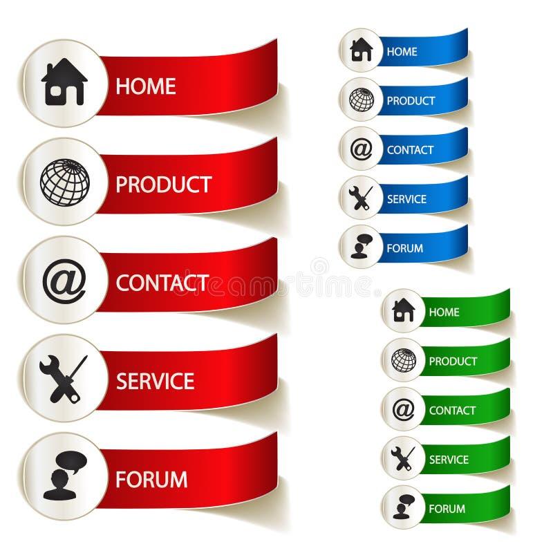 Etiketten voor Web vector illustratie