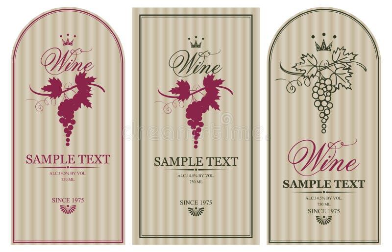 Etiketten voor wijn vector illustratie
