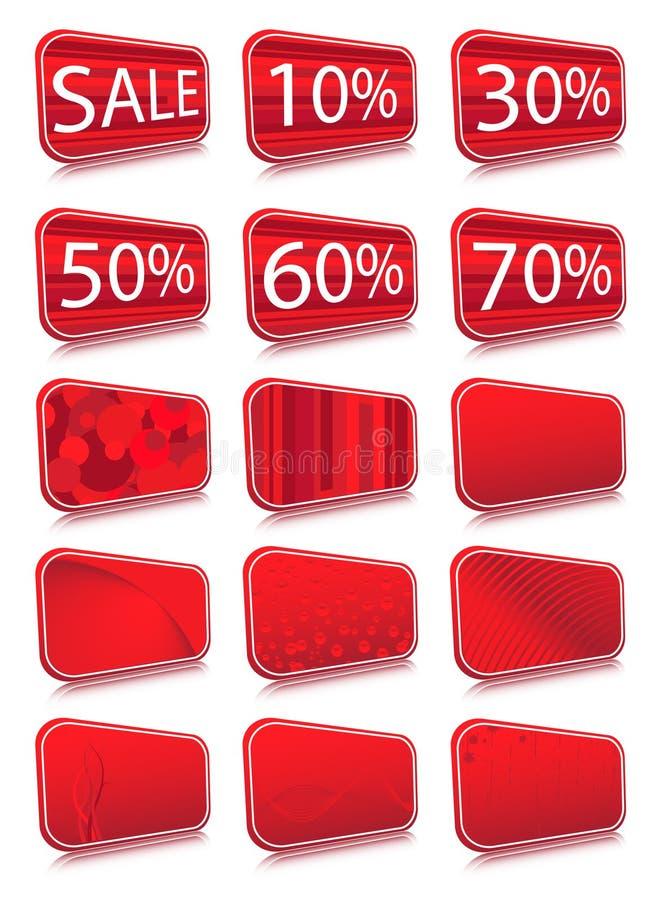 etiketter stock illustrationer
