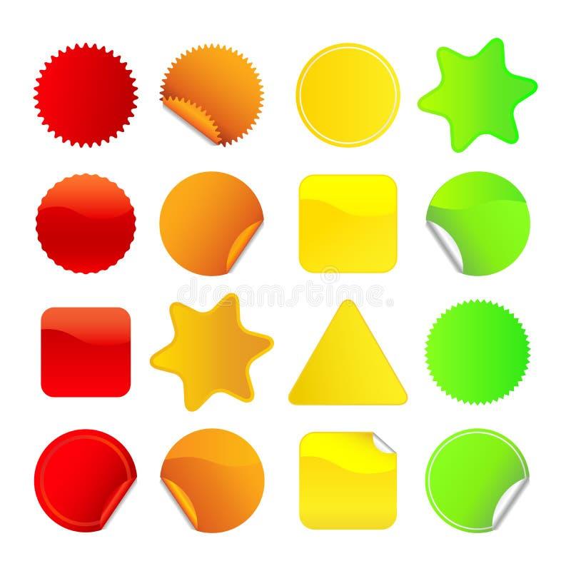 Etiketter För 1 Ljusa Set Arkivfoton