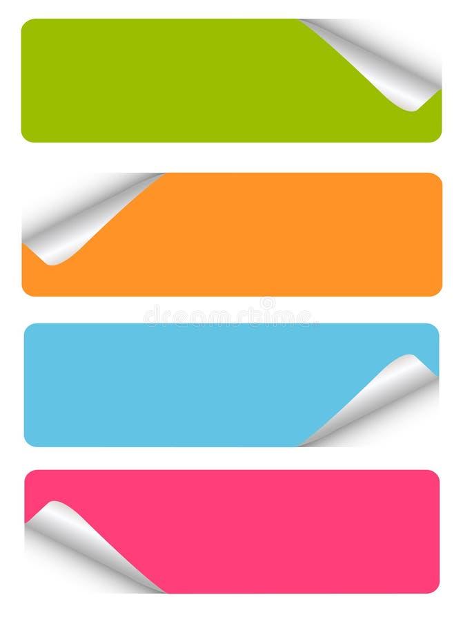 etiketter för blank set royaltyfri illustrationer