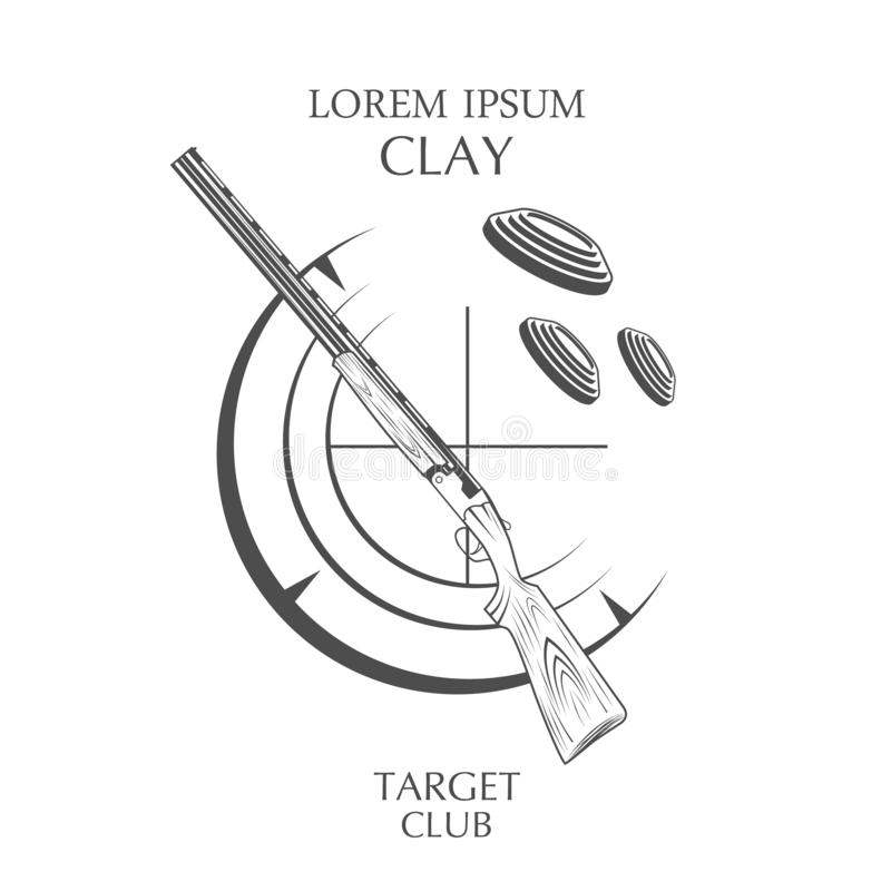 Etiketter för klubba för för tappningleramål och vapen royaltyfri illustrationer