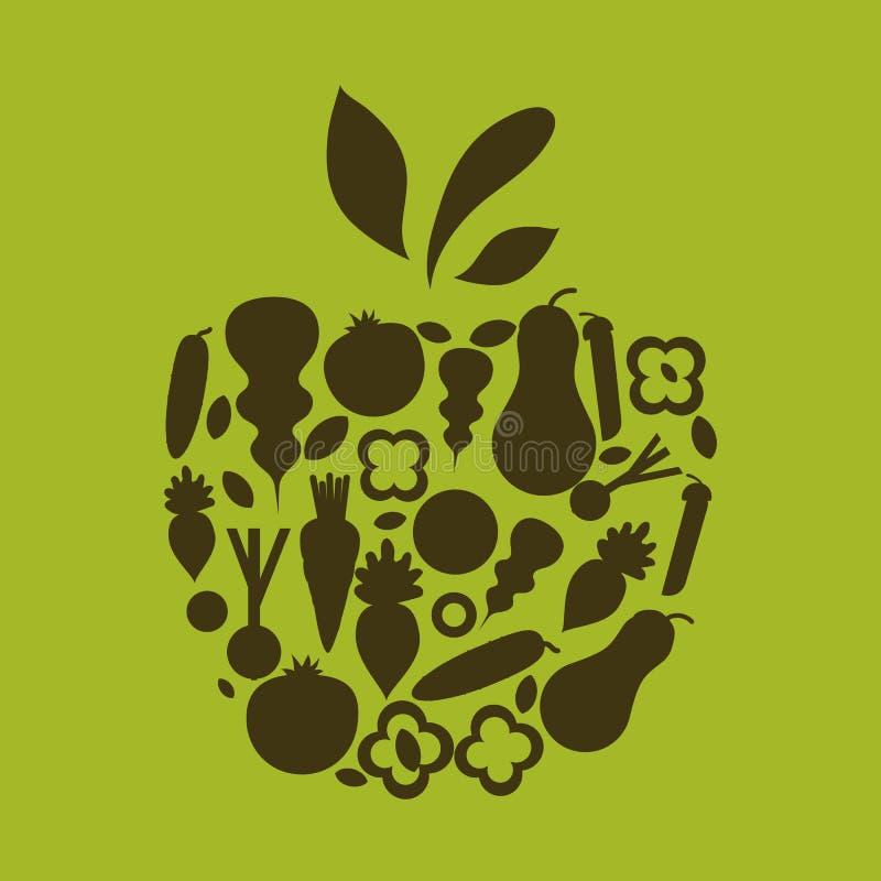 Etiketter för organisk mat för vektor sunda för restauranger, kafé royaltyfri illustrationer