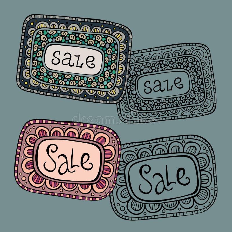Etiketter för Sale naturvektor stock illustrationer
