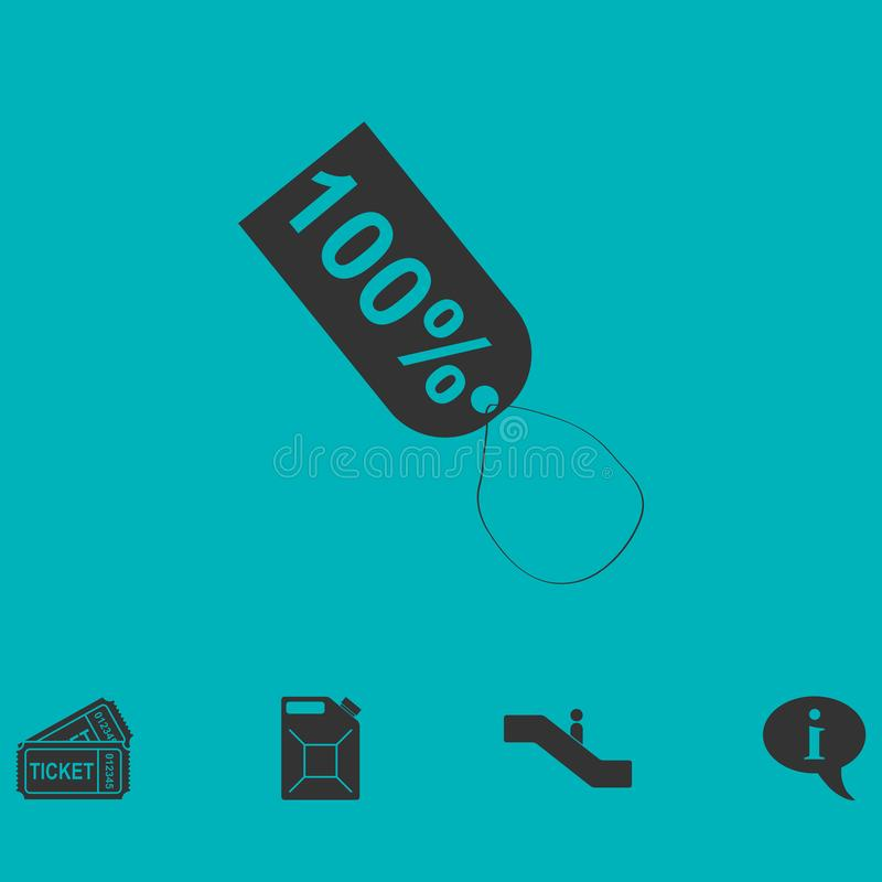 Etikettieren Sie Ikone 100% flach stock abbildung