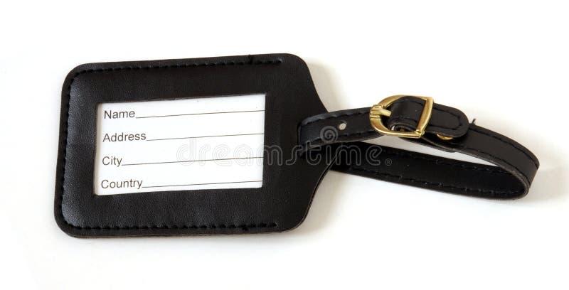 etikettresväska arkivbild