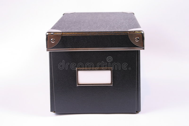 etikettwhite för svart ask royaltyfri fotografi