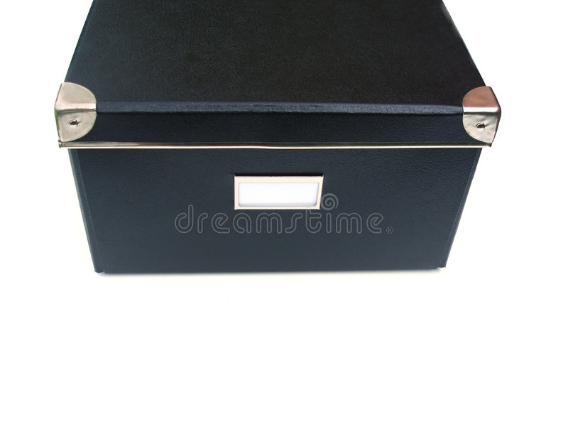 etikettwhite för svart ask royaltyfri foto