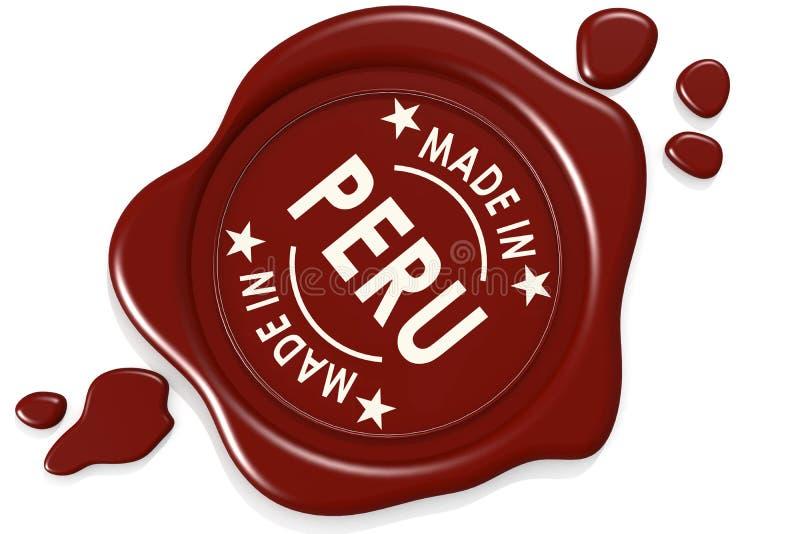 Etiketverbinding van gemaakt in Peru vector illustratie