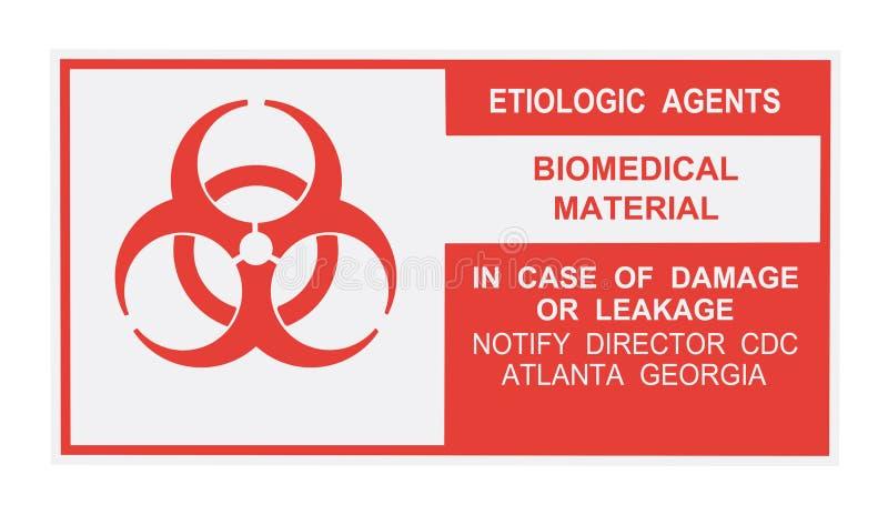 Etiologic Agents Warning Label royalty free stock image