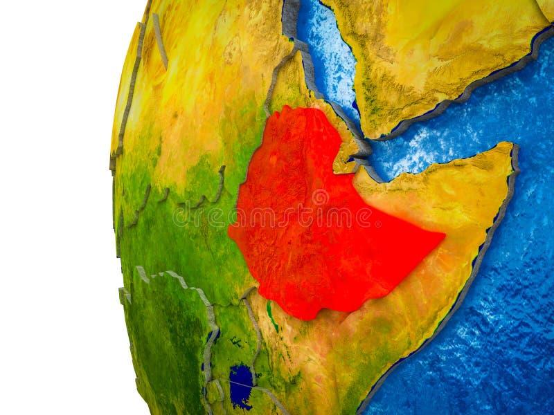 Etiopía en la tierra 3D libre illustration