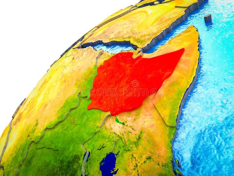 Etiopía en la tierra 3D stock de ilustración