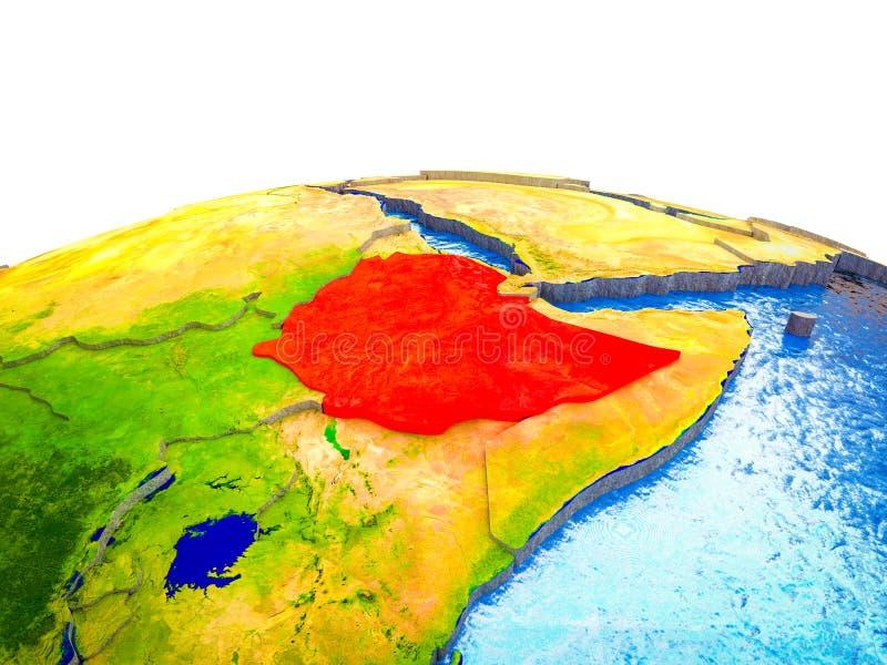 Etiopía en la tierra 3D ilustración del vector