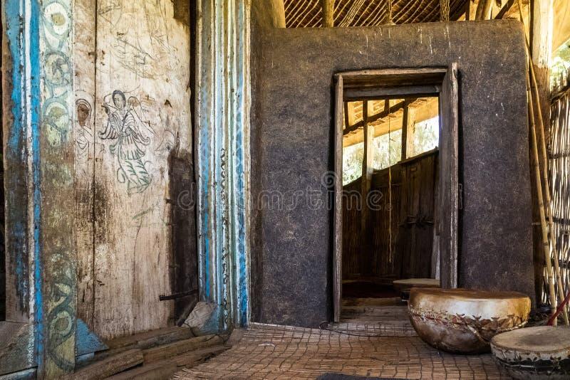 etiop?a Pen?nsula de Zege en el lago Tana Iglesia de Ura Kidane Mehret imagenes de archivo