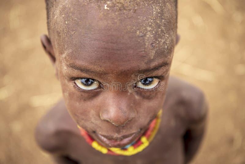 Etiopczycy Plemię Arbore Dolina Omo w południowej Etiopii niedaleko granicy z Sudanem fotografia stock