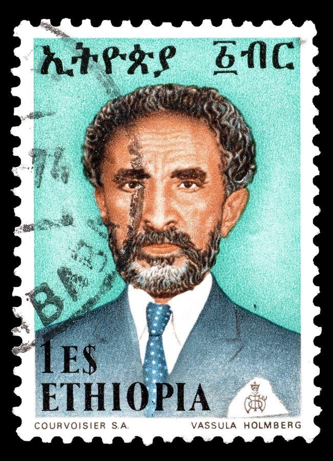 Etiopia na znaczkach pocztowych fotografia stock