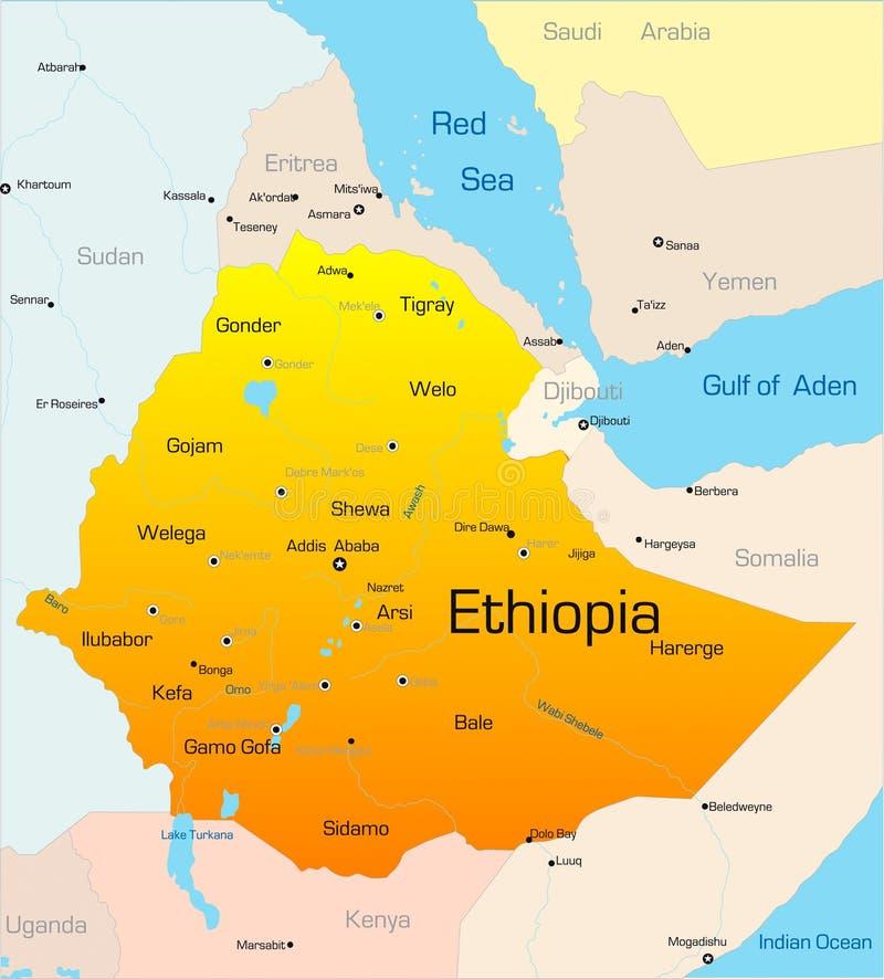 Etiopien stock illustrationer