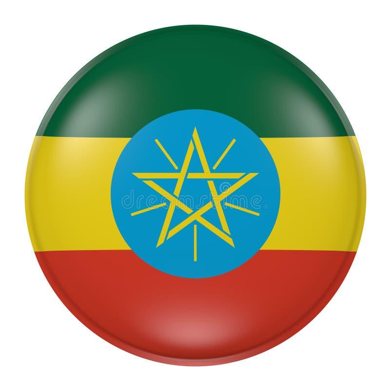 Etiopien knapp på vit bakgrund vektor illustrationer