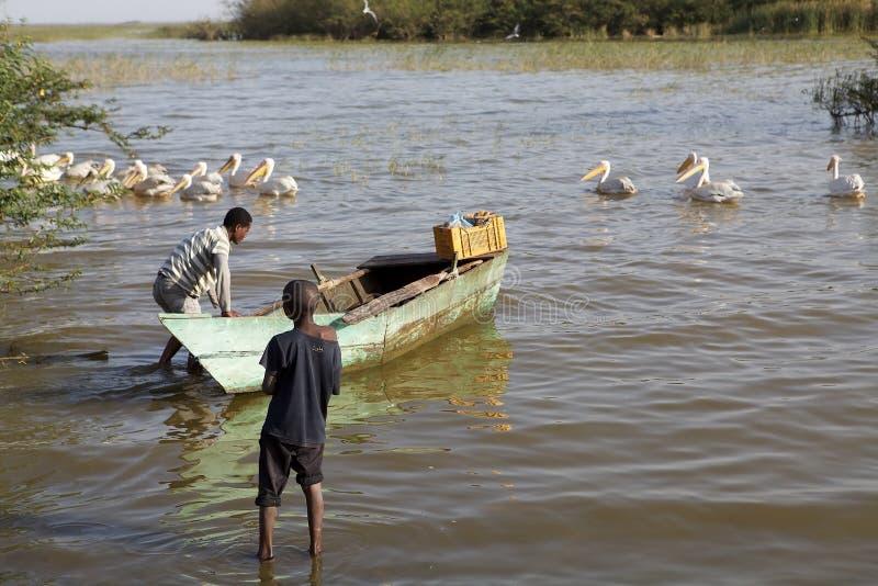 Etiopisk fiskare royaltyfri fotografi