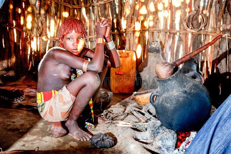 Etiopisk flicka arkivbild