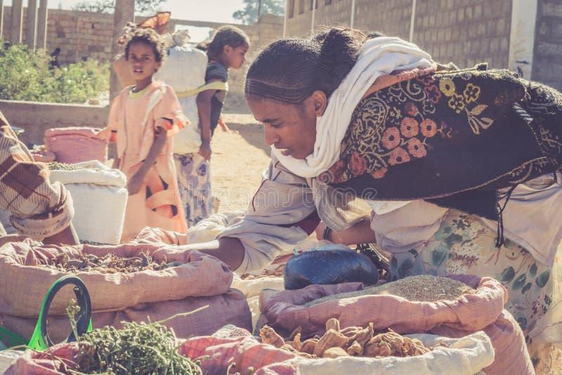 Etiopisk gatamarknad fotografering för bildbyråer