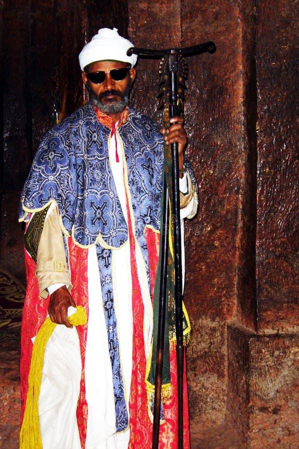 Etiopisk präst royaltyfria bilder