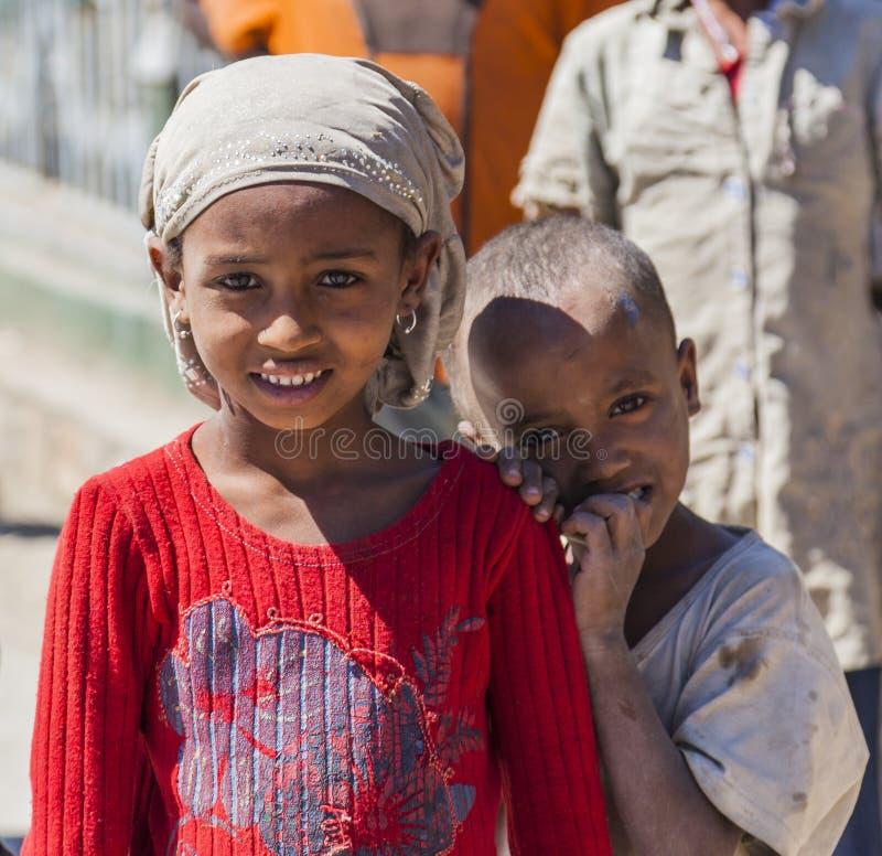Etiopiska barn Hirna ethiopia royaltyfria bilder
