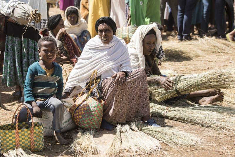 Etiopiska köpmän royaltyfria bilder