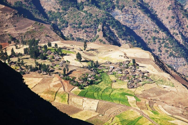 Etiopiska landskap arkivbild