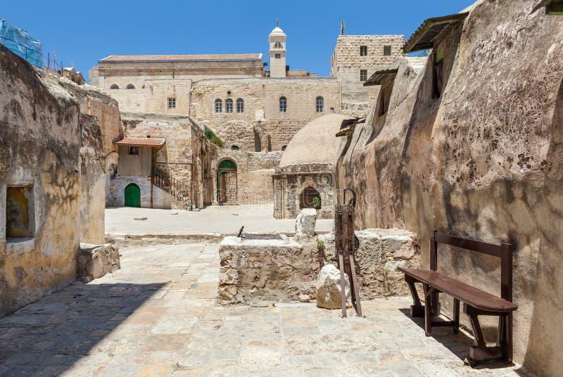 Etiopska część kościół w Jerozolima obraz stock