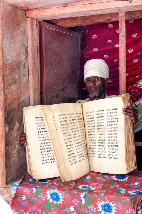 Etiopski ksiądz zdjęcie stock