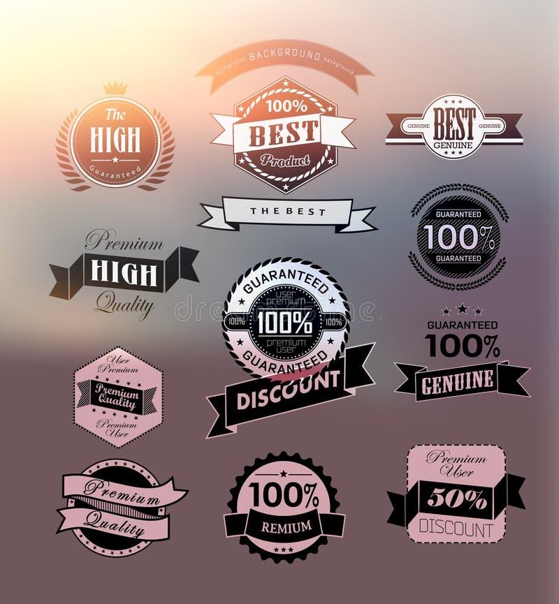 Etiqueta/ícone superiores e de alta qualidade ilustração do vetor