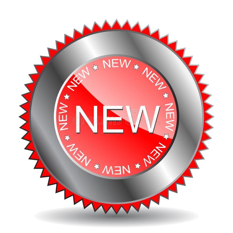 """etiqueta """"nova"""" (vetor) ilustração stock"""