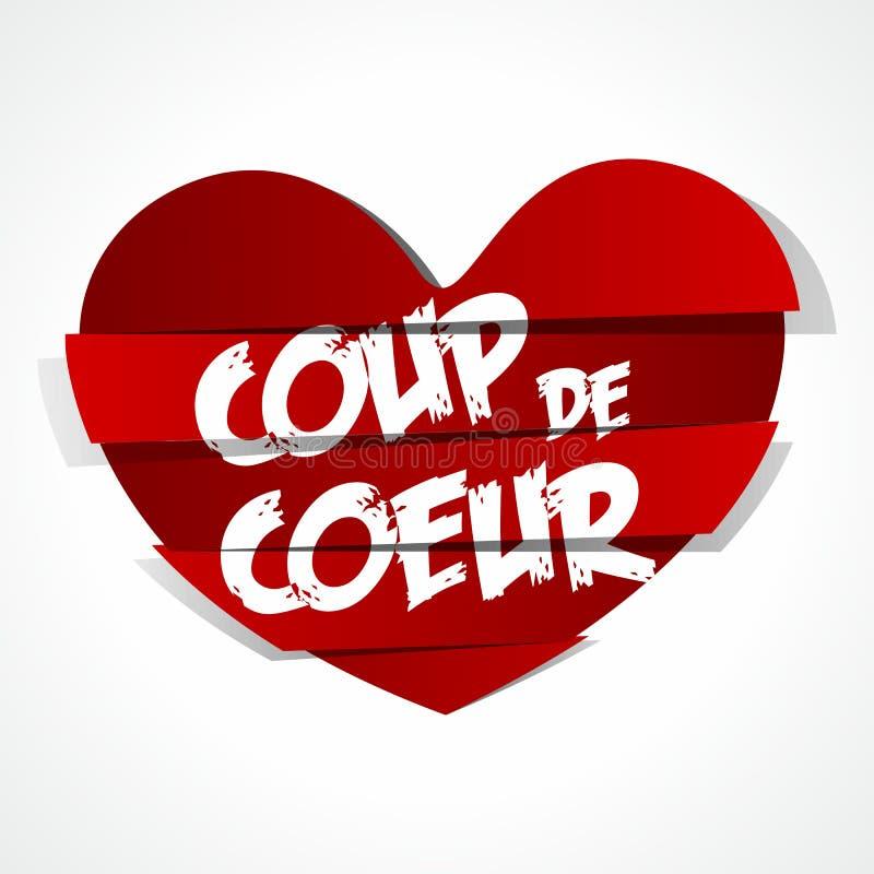 Etiqueta abstrata vermelha favorita do coração ilustração do vetor