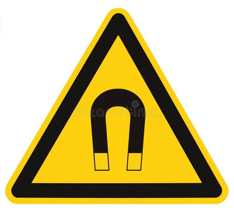 Etiqueta aislada de la señal de peligro del campo, concepto del riesgo del peligro de la atención de la precaución de la segurida imágenes de archivo libres de regalías
