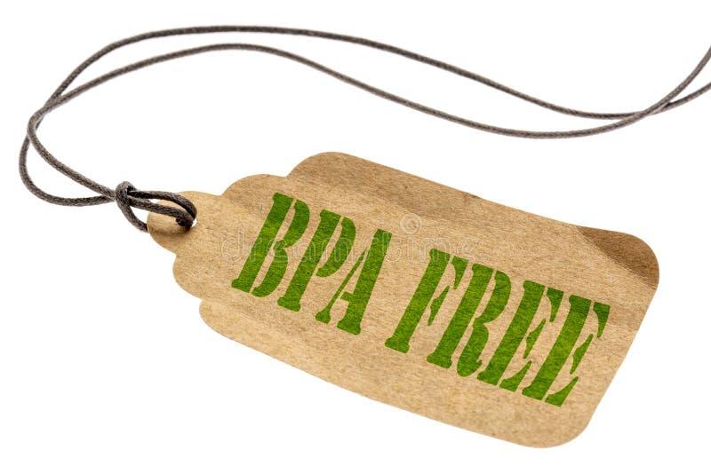 Etiqueta aislada libre de BPA fotografía de archivo libre de regalías