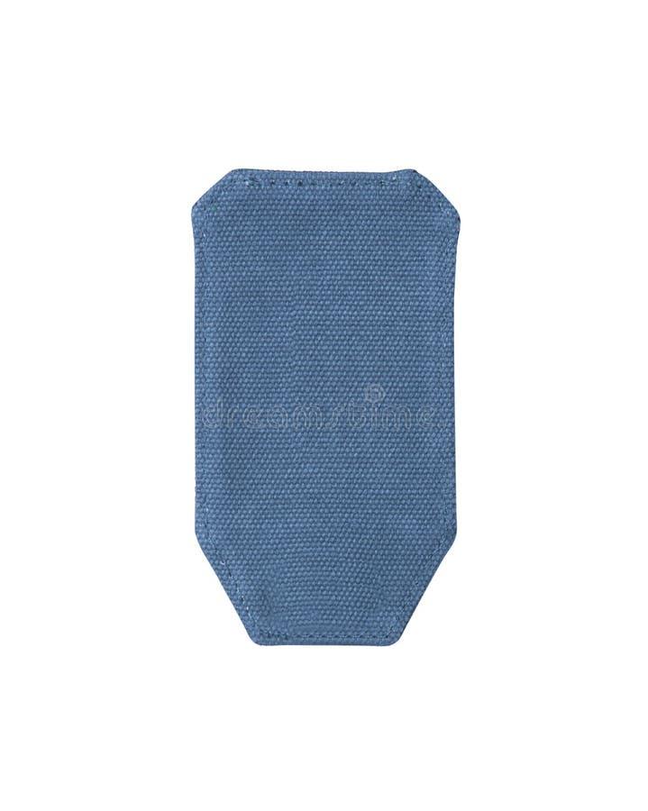 Etiqueta altamente detalhada das calças de brim isolada fotografia de stock royalty free