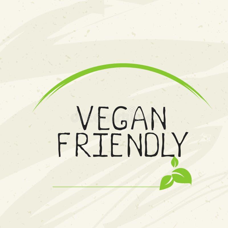 Etiqueta amig?vel do vegetariano e crach?s de alta qualidade do produto A bio casa fez alimento o produto org?nico alimento saud? ilustração royalty free