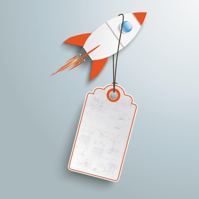 Etiqueta Angebot Rocket do preço ilustração stock