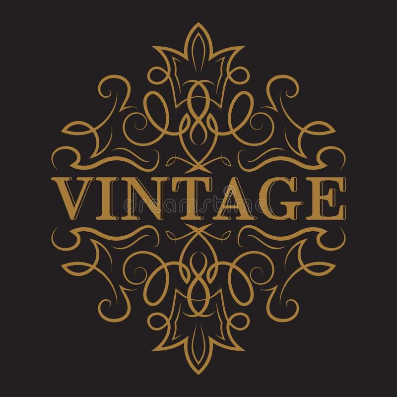 Etiqueta antiga, projeto do quadro do vintage ilustração stock