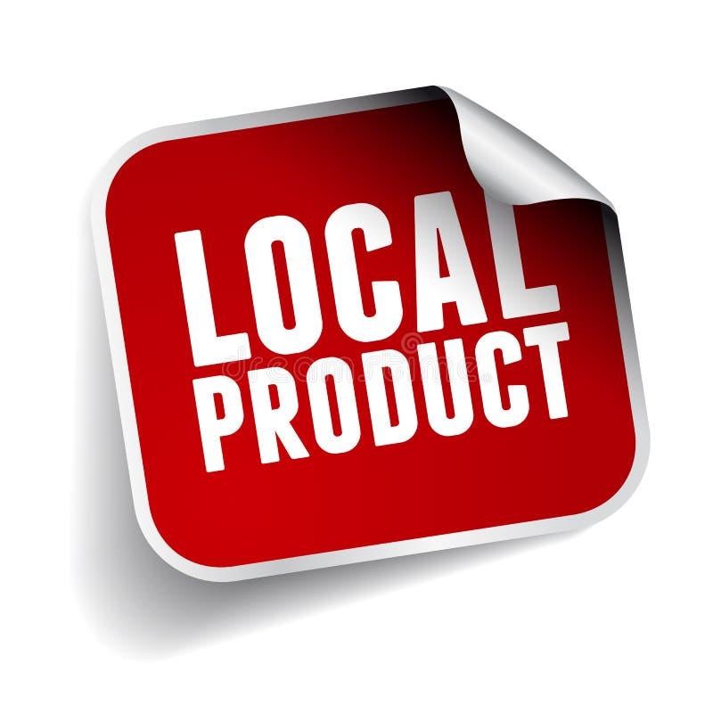 Etiqueta autoadhesiva local del producto ilustración del vector