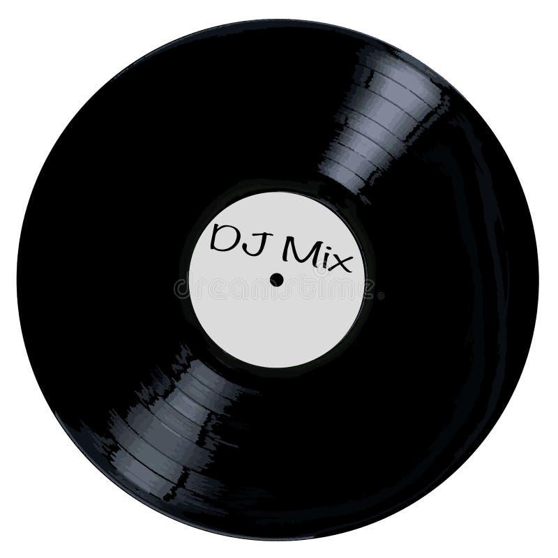Etiqueta blanca de la mezcla de DJ ilustración del vector