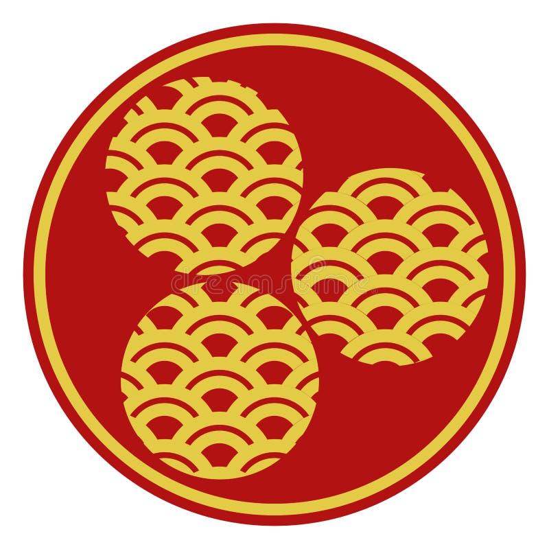 Etiqueta china del Año Nuevo stock de ilustración