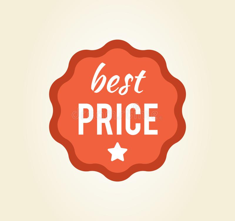 Etiqueta circular do melhor preço na ilustração do vetor ilustração royalty free