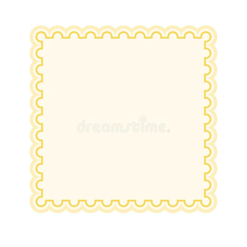 Etiqueta coloreada aislada ilustración del vector