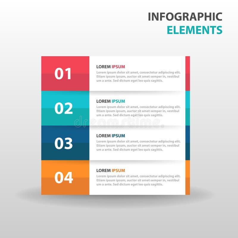 Etiqueta colorida abstracta con los elementos de Infographics del negocio de la lupa, vector plano del círculo del diseño de la p libre illustration