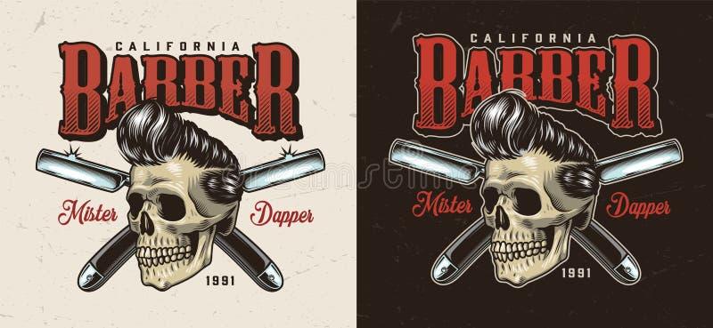 Etiqueta colorida de la barber?a del vintage libre illustration