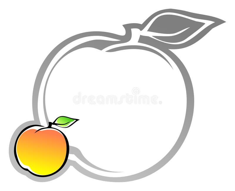 Etiqueta com apricote ilustração royalty free