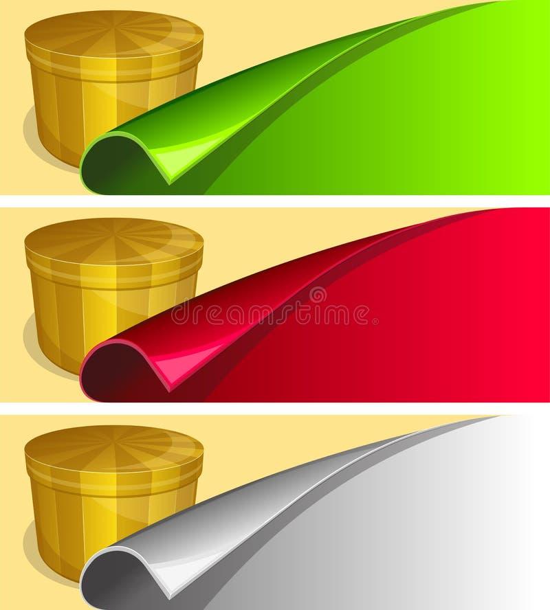 Etiqueta com borda acima ondulada ilustração stock